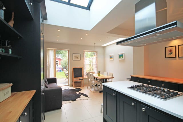 The stylish kitchen extension