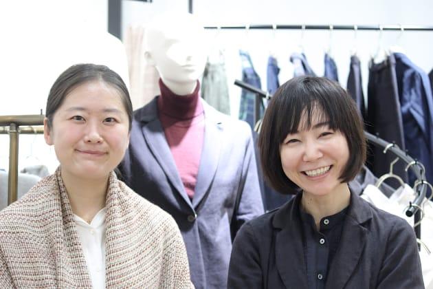 ファブリック部門を統括する田口ちひろさんと山口絵里子さん