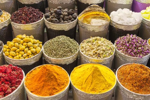 traditional spice market in United Arab Emirates, Dubai souk