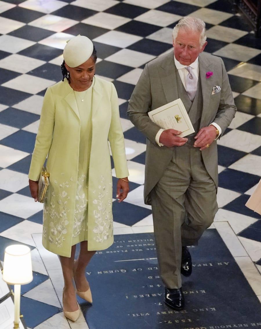Príncipe Charles com a mãe de Meghan Markle, Doria Ragland
