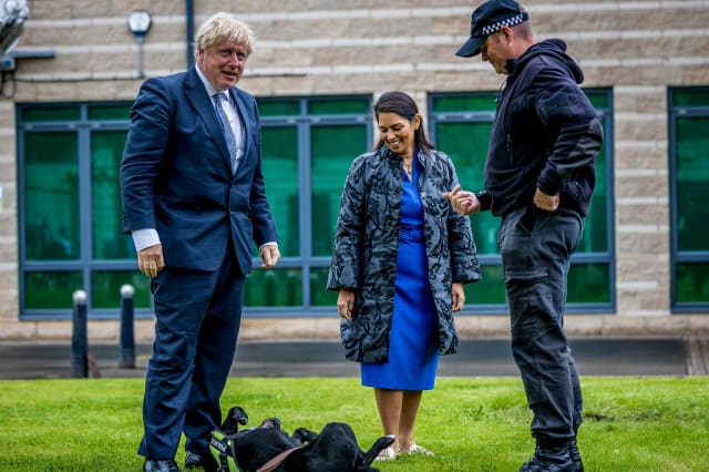 Boris Johnson And Priti Patel Visit North Yorkshire
