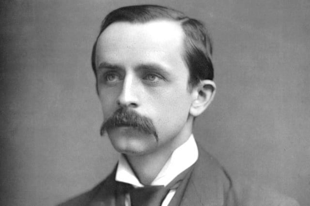 James Matthew Barrie (1860-1937), Scottish playwright and novelist, c1890.