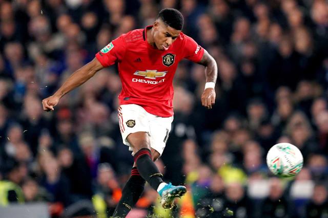 Superb Marcus Rashford free-kick sends Manchester United through