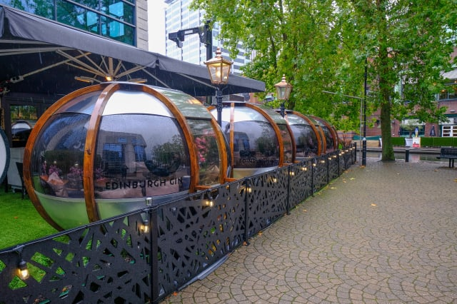 Birmingham restaurant which serves diners in sealed glass 'bubbles' is bucking the trend and is FOUR TIMES busier than before Covid-19