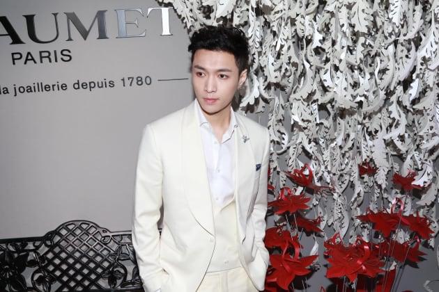 「EXO」メンバー・レイ。2016年10月20日、中国・北京。