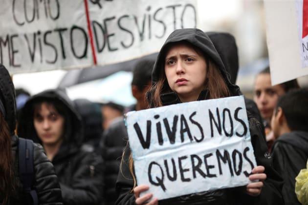 Manifestación durante el