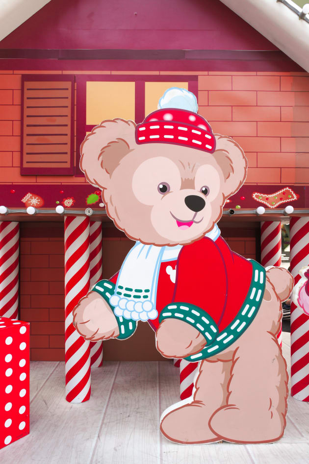 Bangkok, Thailand - December 31, 2015 : Photo of Disney Teddy Bear 'Duffy' Paper Die-cut set up for Christmas and 2016 New Year Decoration Photo-booth at Central World, Bangkok, Thailand, in Happy Fairy Tale concept. Free of Entry. Photo taken on date December 31, 2015. Editorial Used Only