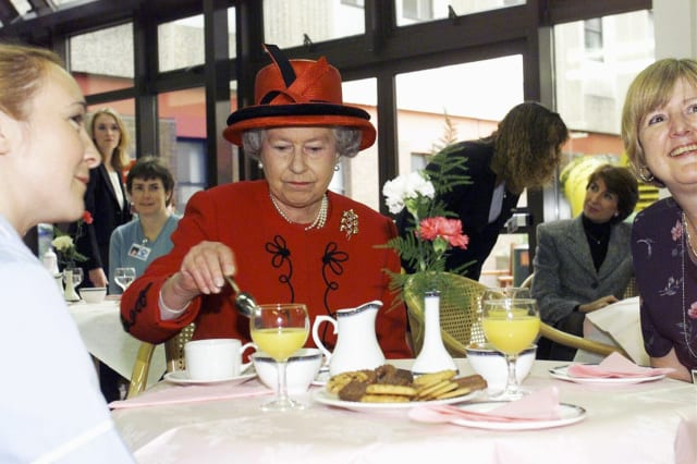 GBR: Queen Elizabeth II visits Manchester Royal Infirmary