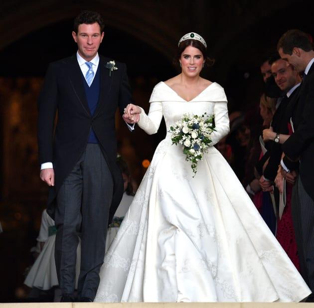 Custom Exhibition Stand By Me Royal Wedding : Princess eugenie s zac posen reception wedding dress is