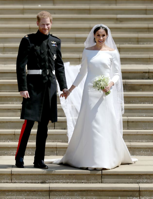 Wpa Pool Via Getty Images Prince Harry And Meghan Markle Depart After Their Wedding Ceremony At St George S Chapel Windsor Castle On May 19