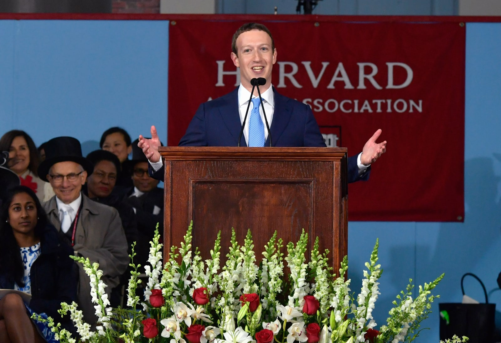Facebook Founder Mark Zuckerberg Delivers Commencement Address At Harvard