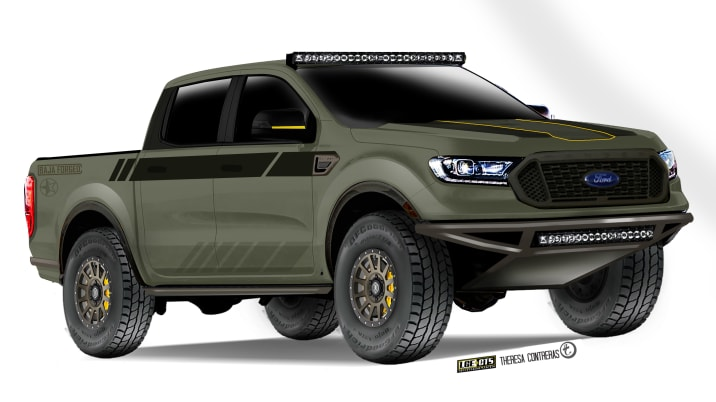 2019 LGE CTS Ford Ranger Baja Forged SEMA concept