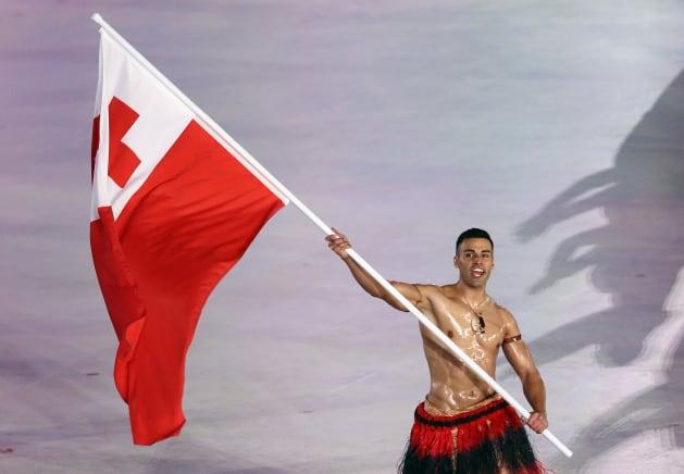 平昌オリンピック開会式のトンガ選手団