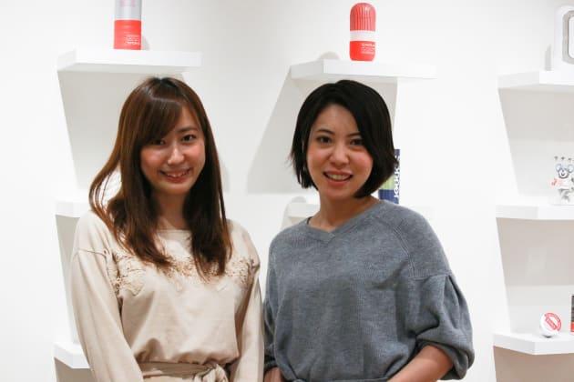 株式会社TENGA広報担当の工藤まおりさん、西野芙美さん