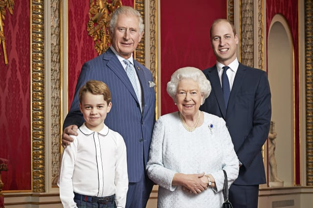 Queen celebrates new decade with portrait alongside heirs