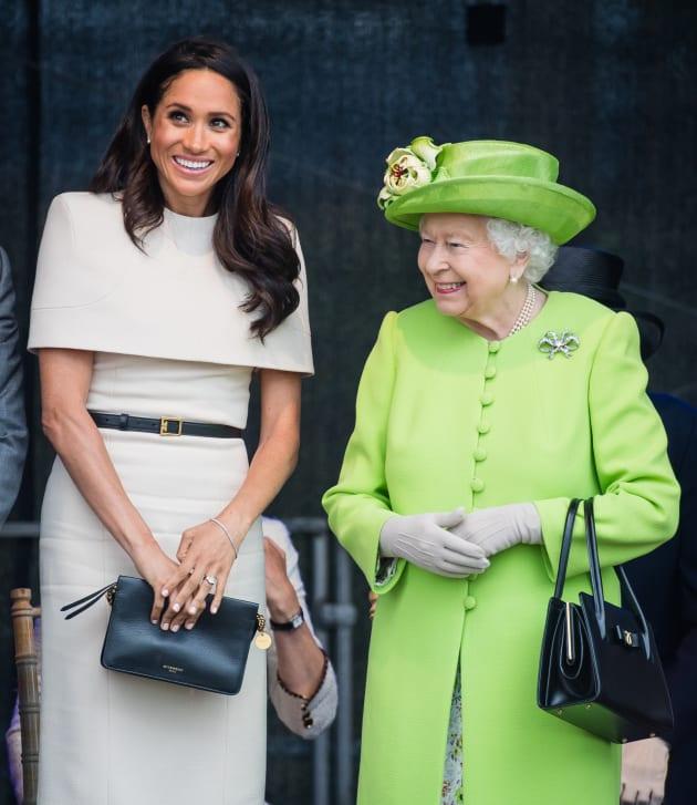 0de5c3d588 The Duchess of Sussex and the Queen at Mersey Gateway Bridge on June 14