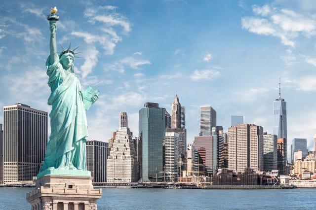 The statue of Liberty, Landmarks of New York City
