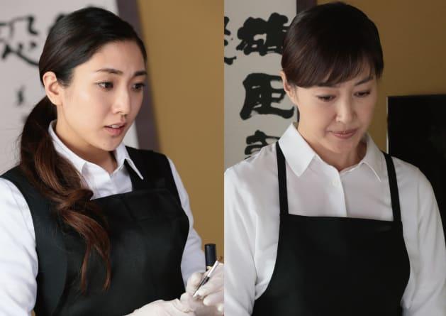 映画「おみおくり」に出演する文音(左)と高島礼子