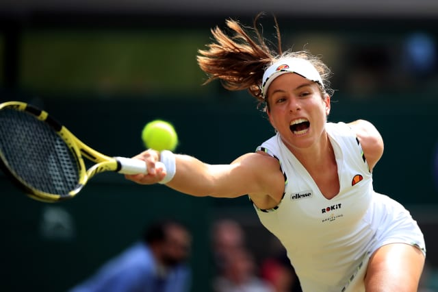 Johanna Konta fights back to reach Wimbledon quarter-finals