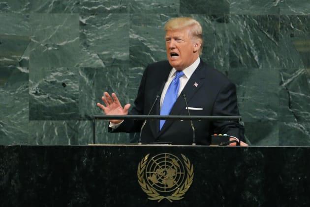 国連総会で演説するトランプ大統領