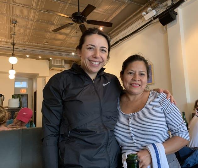 Pilar y yo en Lula Café