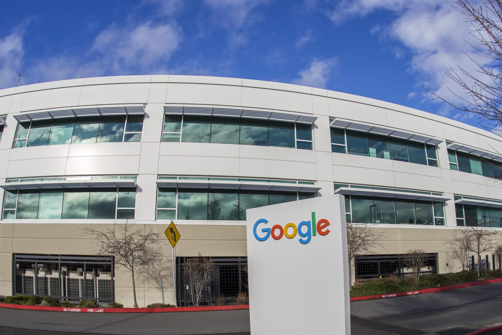 Fisheye view of a Google building