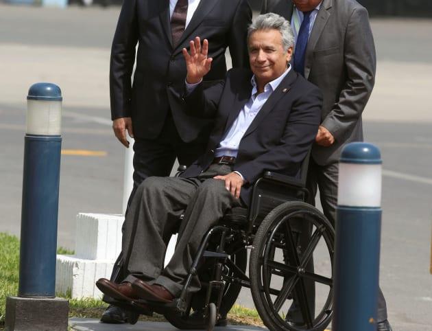 車いす生活のモレノ大統領