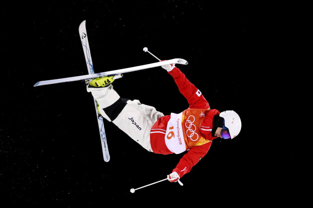 PYEONGCHANG-GUN, SOUTH KOREA - FEBRUARY 12:  Daichi Hara of Japan competes in the Freestyle Skiing Men's Moguls Final on day three of the PyeongChang 2018 Winter Olympic Games at Phoenix Snow Park on February 12, 2018 in Pyeongchang-gun, South Korea.  (Photo by Cameron Spencer/Getty Images)