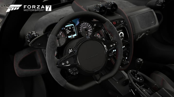 Pagani Huayra interior in Forza Motorsport 7