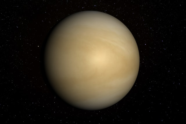 Venus with stars in the background.