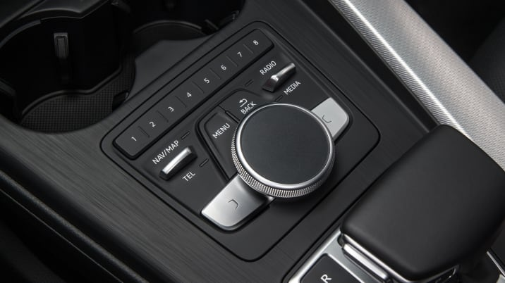 Audi A4 center console controls