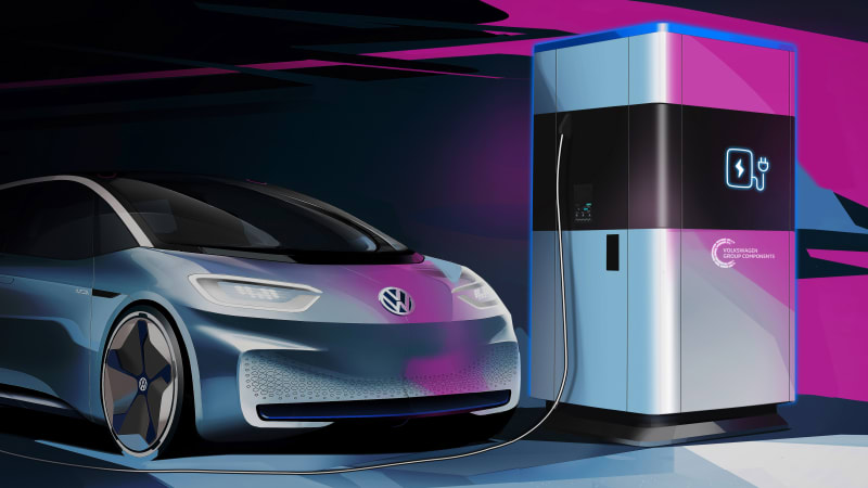 Volkswagen mobile charging stations