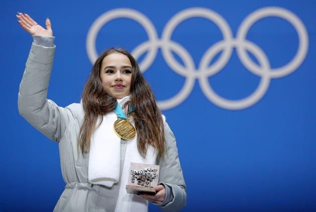 平昌オリンピックで金メダルを獲得したアリーナ・ザギトワ