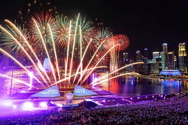 シンガポール・マリーナベイエリアで行われた年越しイベント