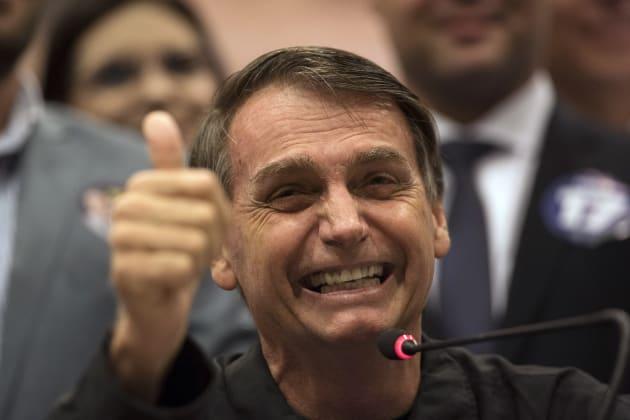 Jair Bolsonaro, candidato puntero por la presidencia.