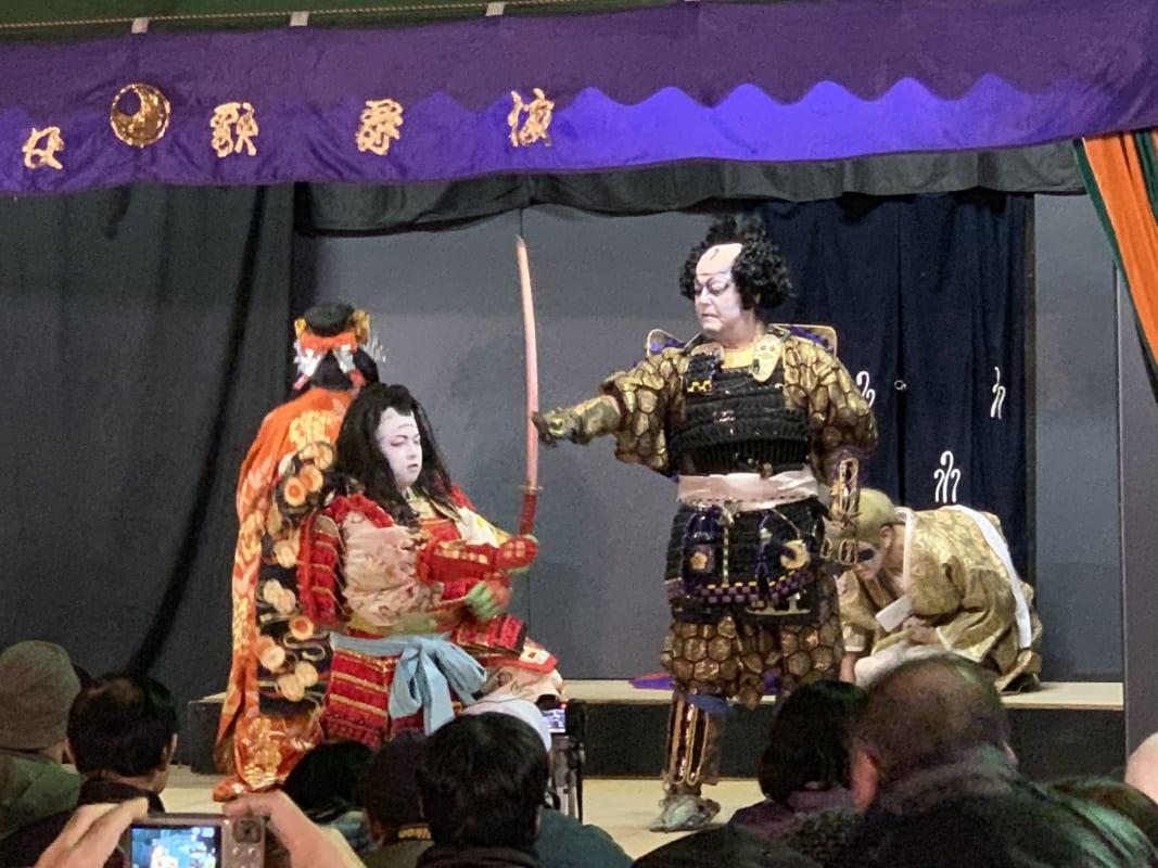 秩父夜祭りで行われていた歌舞伎