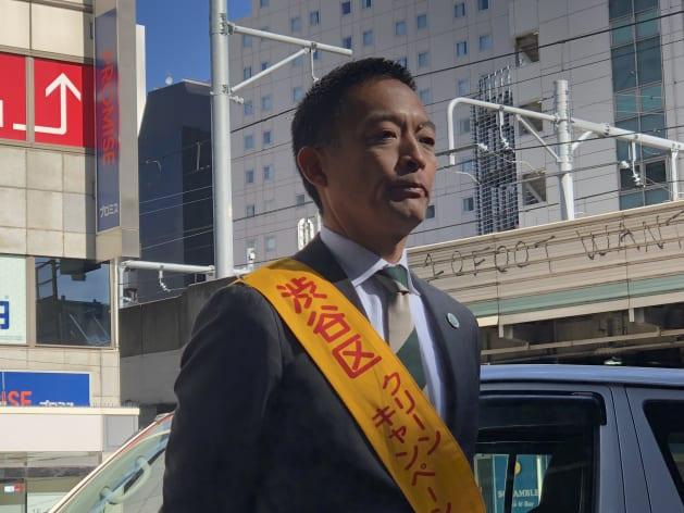 ハロウィン対策を語る長谷部渋谷区長