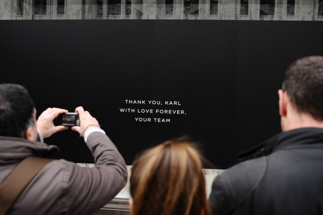 Tribute To Late Fashion Designer Karl Lagerfeld