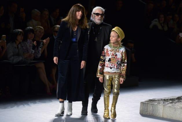 Karl Lagerfeld, en el desfile Métiers d'Art en el MET de Nueva
