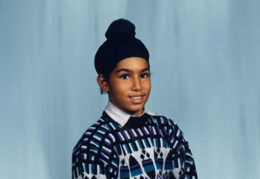 A young Jagmeet Singh poses for a school photo in this undated picture.