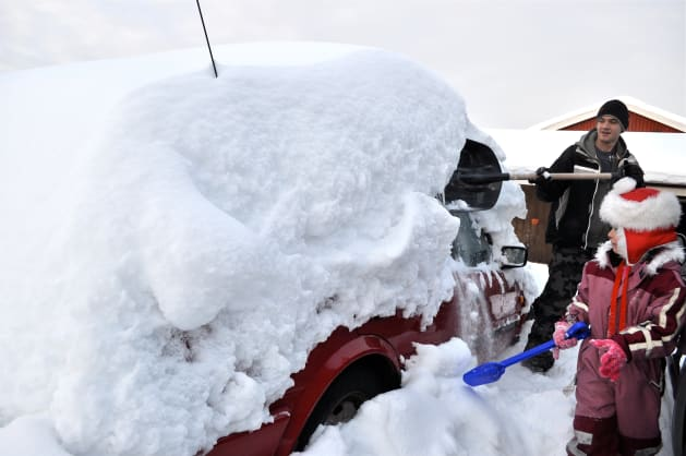 Depending on how much snow your car is under, you might want to re-think the drive to