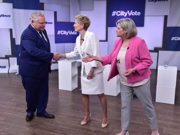 Image result for images of ontario electoral debate