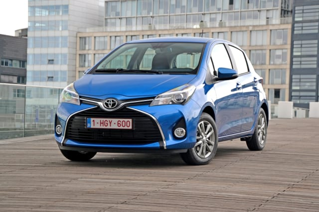 Toyota Yaris on the street