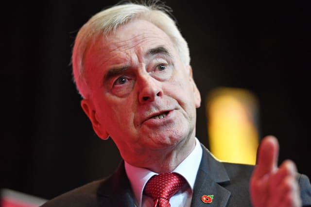 McDonnell accuses Tories of siding with the super rich