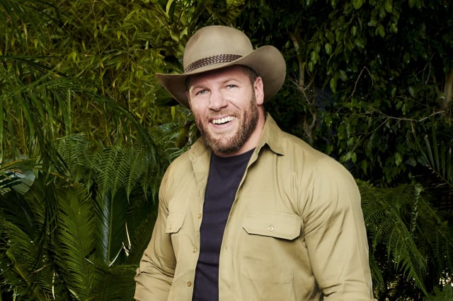 James Haskell thanks fans as he enjoys pizza and beer after I'm A Celebrity exit