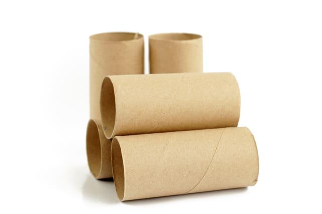 Brown paper rolls.