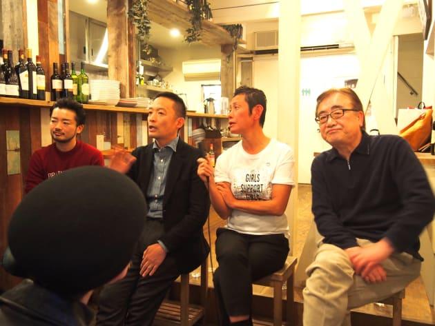 左から杉山文野さん、長谷部健さん、小川チガさん、佐藤正記さん