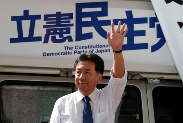 立憲民主党の枝野幸男代表=2017年10月
