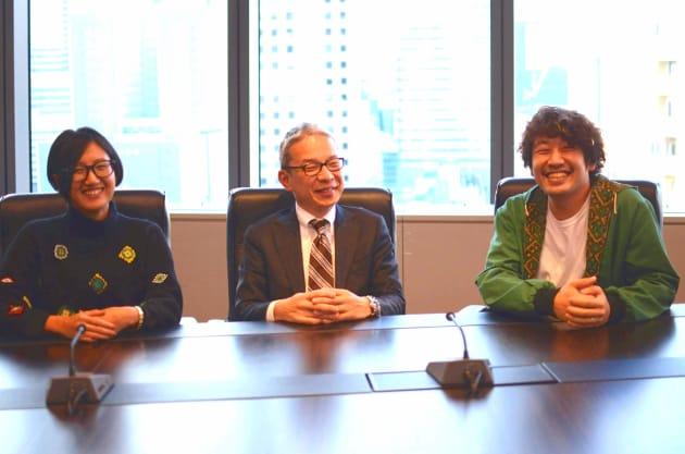 左から、アートディレクターの野村緑さん、人事・総務本部本部長の殿村良彦さん、クリエイティブディレクター/プランナーの才川翔一朗さん