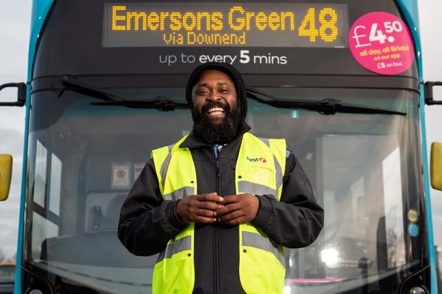 A bus driver who has spent years singing to his passengers is now driving forward as a music star - and has released his own album
